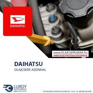 Daihatsu YRV 1.0 12V 2000-től olajcsere