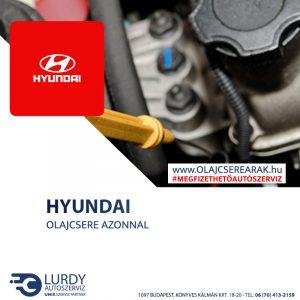Hyundai i30 1.4 2007-től olajcsere