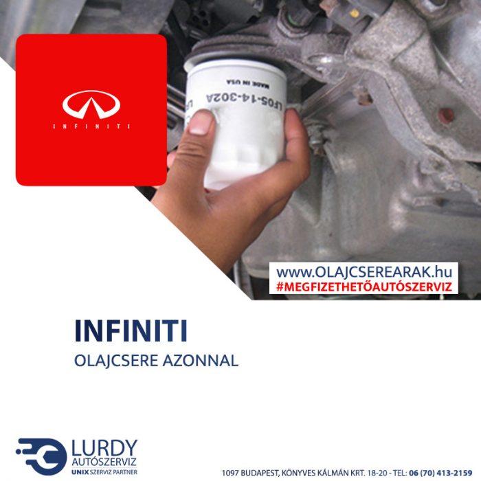 Infiniti EX 35 J50 2008-tól olajcsere