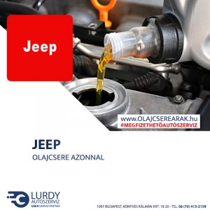 Jeep Wrangler 2.5 1997-től 2002-ig olajcsere