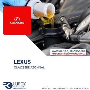 Lexus SC 430  2002-től olajcsere
