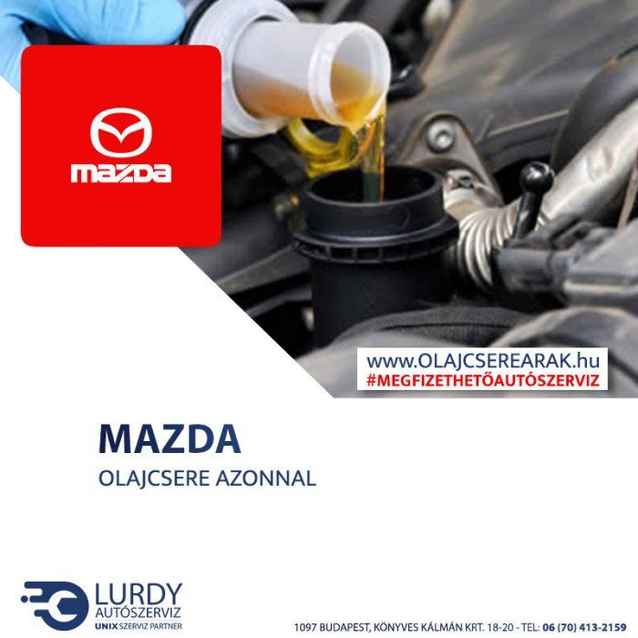 Mazda Xedos 9 2.0 V6 1997-től 2002-ig olajcsere