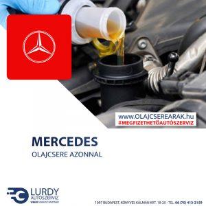 Mercedes Vito 108 CDI (W 638) 1999-től 2003-ig olajcsere
