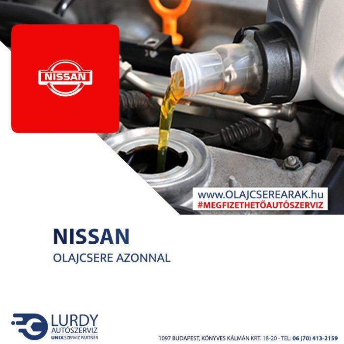 Nissan X-Trail 2.0 16V 2001-től 2007-ig olajcsere