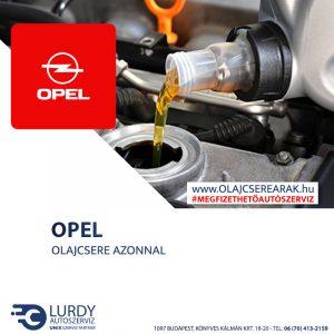 Opel Zafira 1.6 16V (X16XEL) 1999-től 2000-ig olajcsere