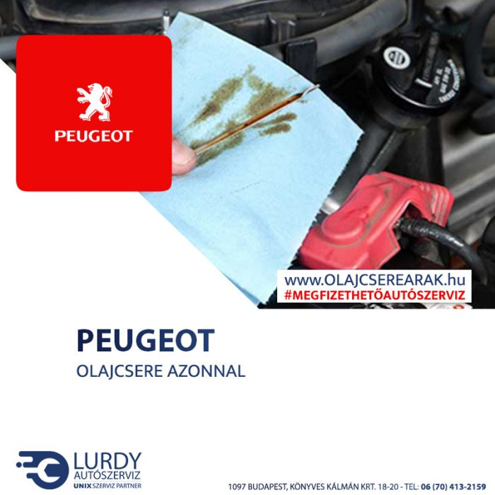Peugeot Partner Tepee 1.6 16V 2008-tól olajcsere