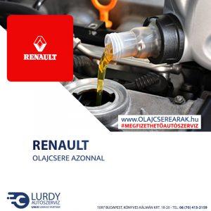 Renault Vel Satis 3.5 V6 2002-től olajcsere