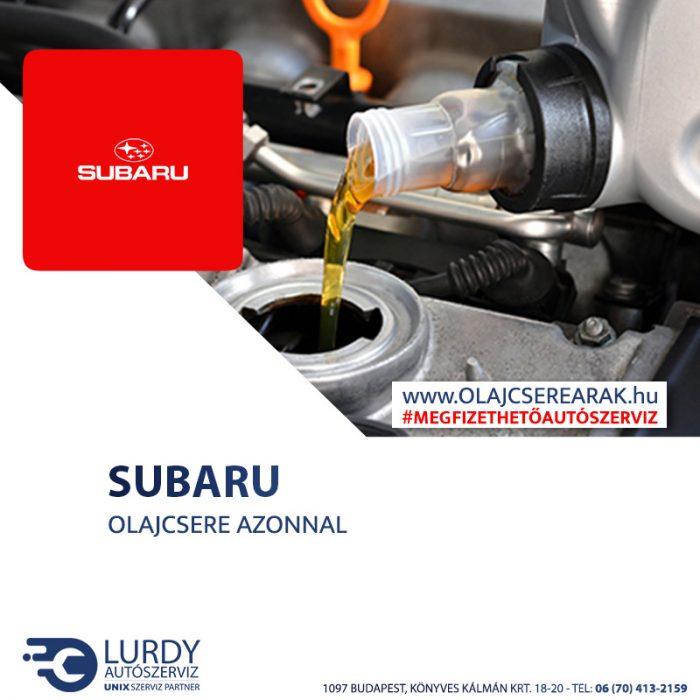 Subaru Vivio 1995-től 2000-ig olajcsere